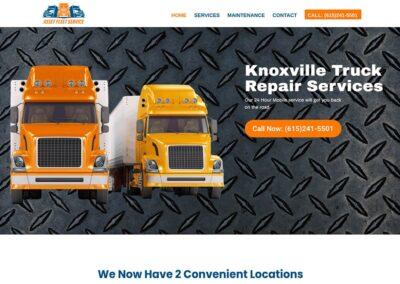 Asset Fleet Service Truck Repair Website