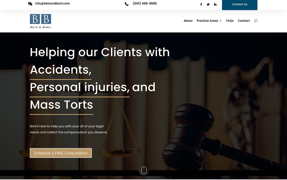 BETZ AND BARIL LAWFIRM WEBSITE