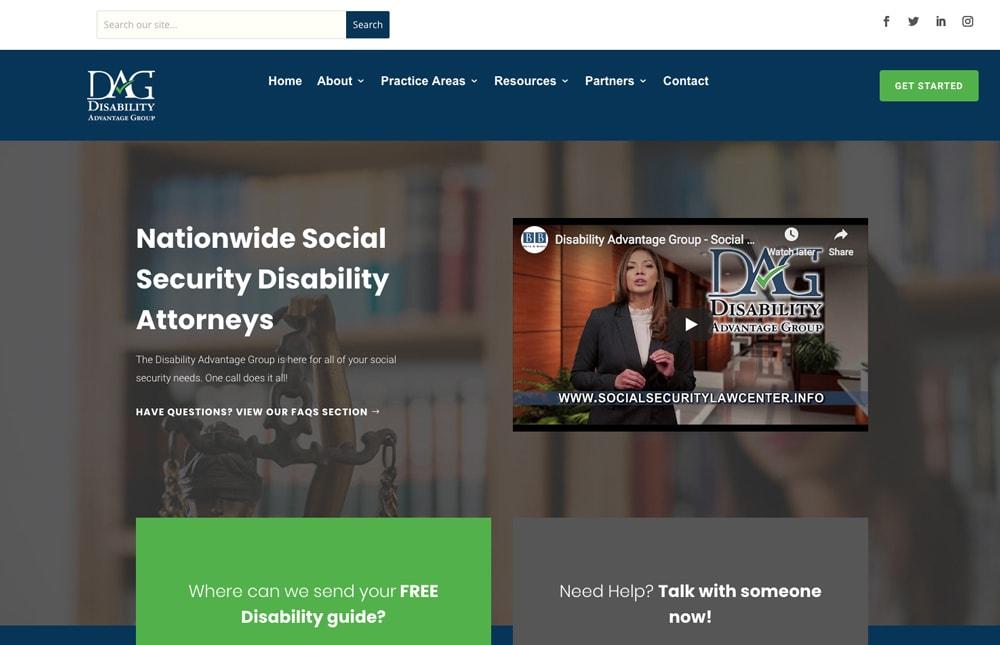 Disability Advantage Group Website Design