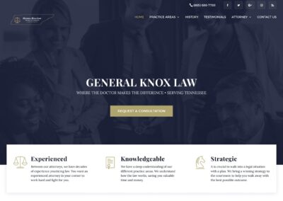 General Knox Law Website Design