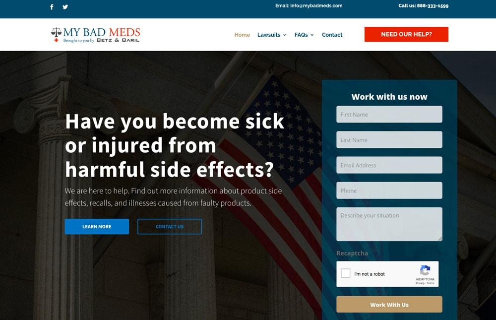 My Bad Meds Attorney Website