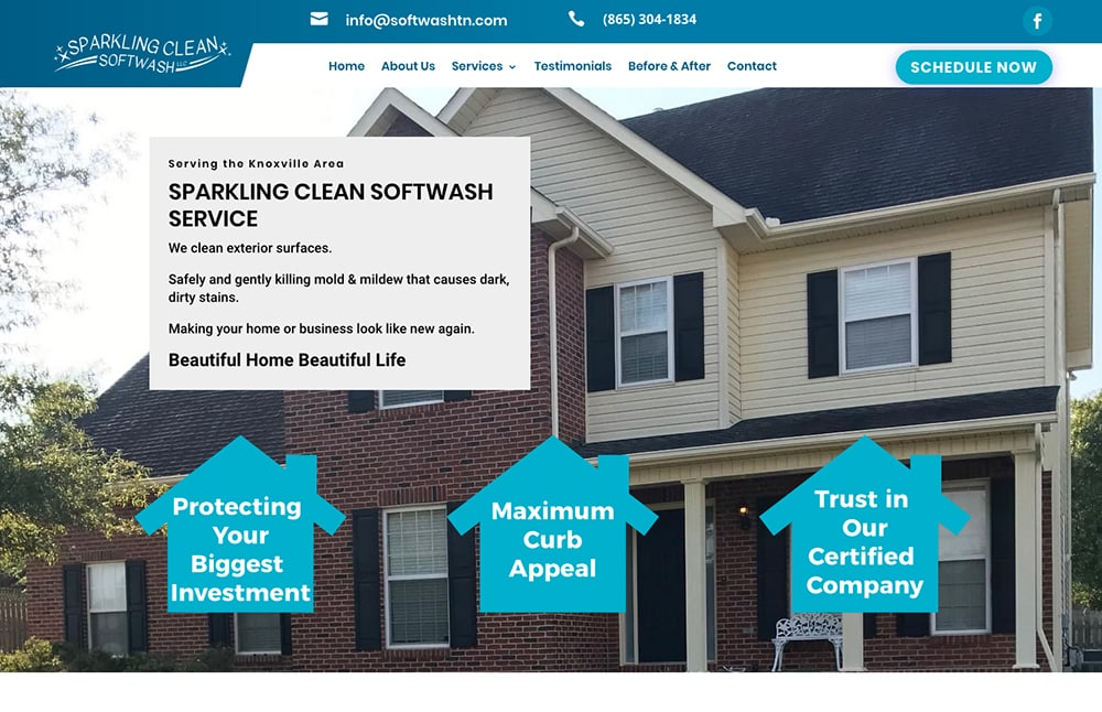 Sparkling Clean Softwash Website